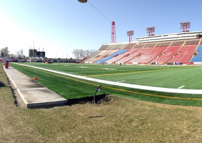 Install at McMahon Stadium Infield (5)